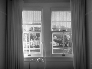 main window view at cavallo point b&w